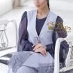 لباس زنانه کرپ و حریر و گیپور 3004