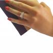 انگشتر زنانه نقره تک نگین با پشت حلقهایی E123