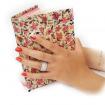 انگشتر زنانه نقره دورنگین هفت رج E126