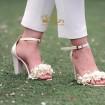 کفش عروس بندی گلدار 2502
