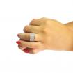 انگشتر زنانه نقره میکرو هفت رج E125