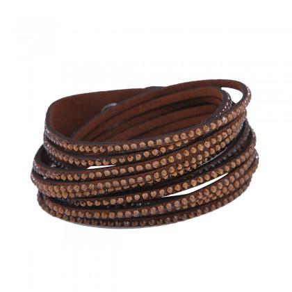 دستبند زنانه چرمی سواروفسکی Swarovski B1184