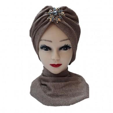 کلاه حجاب لمه شنی آویزدار 109A (توربان)
