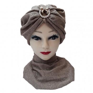 کلاه حجاب لمه شنی آویزدار 109B (توربان)