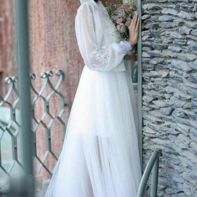 لباس عروس کرپ و تور 2013
