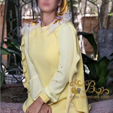 لباس مجلسی زنانه کرپ و حریر 3017