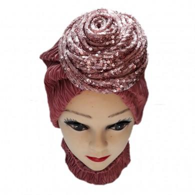 کلاه حجاب ساتن کش 1005 (توربان)