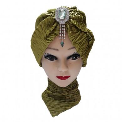 کلاه حجاب ساتن کش 1003 (توربان)
