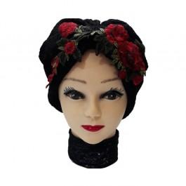 کلاه حجاب توری پفکی گلبرگ 1024C (توربان)