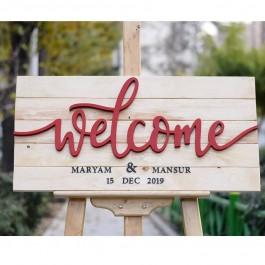 تابلو یادبود ولکام قرمز Welcome M1