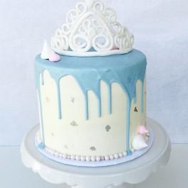 کیک سفارشی تاج سیندرلا