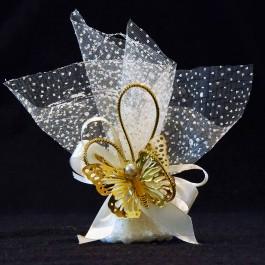 گیفت (هدیه) عروسی توری قند و پروانه 10 عددی
