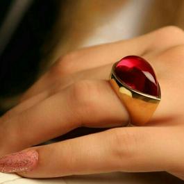 انگشتر زنانه استیل طلایی E122