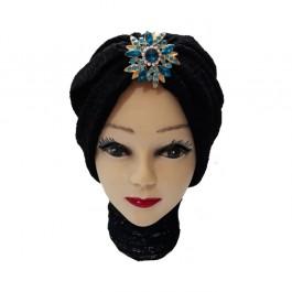 کلاه حجاب تور و گیپور 1032 (توربان)