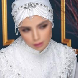 کلاه حجاب عروس 7504 (توربان)