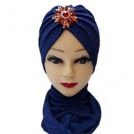 کلاه حجاب لمه شنی آویزدار 1026 (توربان)