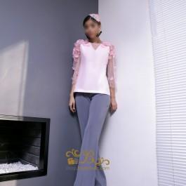لباس مجلسی زنانه کرپ 3008