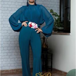 لباس مجلسی زنانه کرپ و حریر 3009