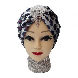 کلاه حجاب مخمل طرح دار 1033 (توربان)