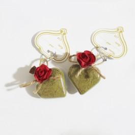 گیفت و هدیه عروسی شیشه ای حنا طرح قلب 30 عددی B1512