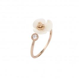 انگشتر زنانه گل سفید ون کلیف Van Cleef R1091