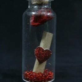 گیفت (هدیه) عروسی بطری قلب 10 عددی