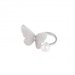 انگشتر زنانه پروانه مروارید R1062