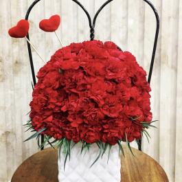 گل و گلدان سرامیکی هیلاریا
