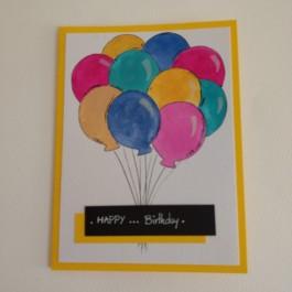 کارت پستال بادکنک رنگی تولدت مبارک Happy Birthday