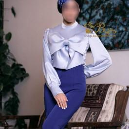 لباس مجلسی زنانه کرپ و ساتن 3005