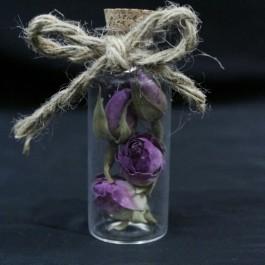 گیفت (هدیه) عروسی بطری گل بنفش 10 عددی