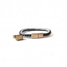 دستبند مردانه استیل و چرم مونت بلانک Mont Blanc E119