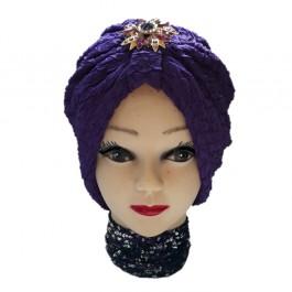 کلاه حجاب ژاکارد طرح دار 1015 (توربان)