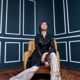 لباس مجلسی زنانه حریر و لمه 3006