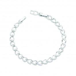دستبند زنانه زنجیری نگین دار B1328