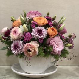فنجان نعلبکی گل بهاری