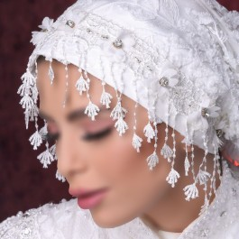 کلاه حجاب عروس 7503 (توربان)
