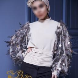 لباس مجلسی زنانه کرپ 3011