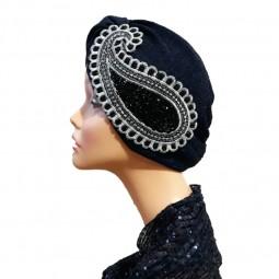 کلاه حجاب لمه کشی جواهردوزی 2001 (توربان)