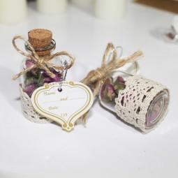 گیفت و هدیه عروسی شیشه ای گل محمدی 30 عددی B1511