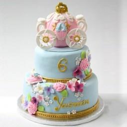 کیک سفارشی 3 طبقه کالسکه