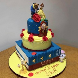 کیک سفارشی 3 طبقه دیو و دلبر