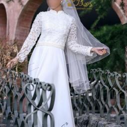 لباس عروس کرپ و گیپور 2005