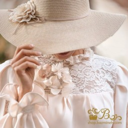 کلاه عروس حصیری لبه دار 2021