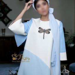 لباس مجلسی زنانه کرپ و حریر 3014