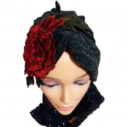 کلاه حجاب لمه کشی اپلیکه گلدوزی 2002 (توربان)
