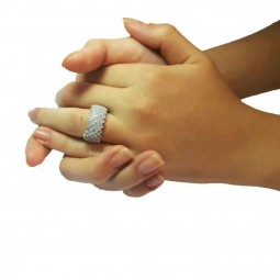 انگشتر زنانه نقره پرنس شش رج E127
