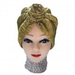 کلاه حجاب ساتن طرح دار 1013 (توربان)