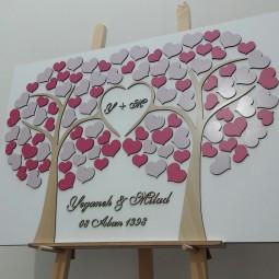 تابلو یادبود درخت و قلب