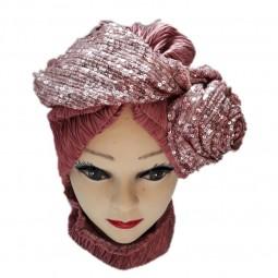 کلاه حجاب ساتن کش 1006 (توربان)